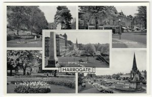 Yorkshire; Harrogate, Multiview, L5466 PPC By Valentines, Unused, c 1950's