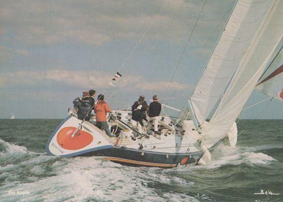 Big Apple Admirals Cup Racing Ron Holland Sailing Boat Race 1970s Postcard