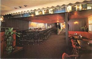 Hightstown New Jersey~Old Yorke Inn Restaurant~Interior~Cocktail Lounge Bar~1965