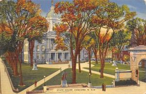 Concord New Hampshire~State House~1939 Postcard