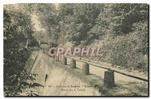 Old Postcard surroundings Lagny Chalifert on the road tunnel