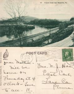 MEADVILLE PA FRENCH CREEK 1910 ANTIQUE POSTCARD railway railroad