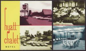 Hyatt Chalet Motel,Elk Grove Village,IL Postcard