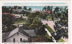 Florida Sebring Birds Eye View Of Lake View Drive 1934 Curteich