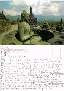 CPM Buddha statue at Borobudur temple after the restoration INDONESIA (730188)