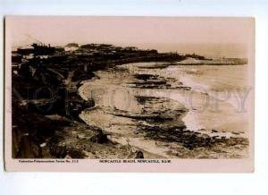 173683 AUSTRALIA NSW NEWCASTLE beach Vintage photo postcard