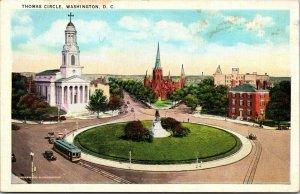 Vtg 1920s Thomas Circle Wards Statue of George H Thomas Washington DC Postcard