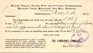 Pennsylvania Philadelphia Fairbanks Company Scales Trucks Valves Pipe Tools &...