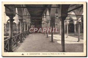 Postcard Old Constantine Interior of the Palace of Dar El Bey