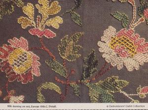 1800s Silk Darning On Net Embroiders Embroidery Guild Rare Craft Crafts Postcard