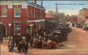 Chatham Ontario The Market Street Scene Postcard