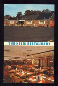 Warwick, Rhode Island/RI Postcard, The Helm Restaurant, Route 2, 1960's?