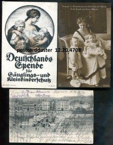 4708 - GERMANY 1910s Lot of 3 WW1 Feldpost. Princess Victoria. Boulogne Sur Mer