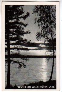 Sunset on Washington Lake