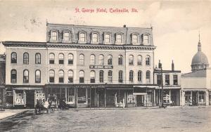 Carlinville Illinois~St George Hotel~Banking House~Candy Store~1909 B&W S&L Co