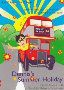 Dennis' Summer Holiday Play New Vic Theatre Gala Poster Postcard Style Card