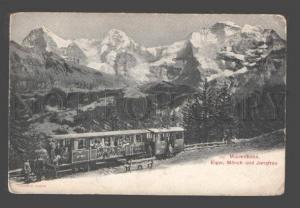 094290 SWITZERLAND Murrenbahn Eiger Monch Jungfrau Vintage PC