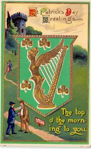 The Top of the morning St. Patricks Day Postcard Unused