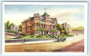 ILFRACOMBE, Devon, UK ~ BERKELEY HOTEL Street Scene Early Car c1910s Postcard