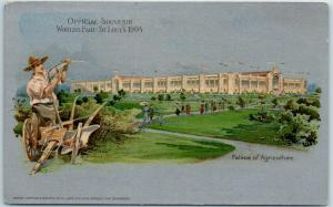 1904 St. Louis World's Fair Official Postcard Palace of Agriculture UNUSED