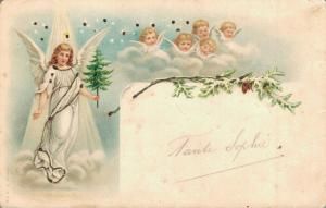 Woman Angel with Baby Angels Absolut Beautiful - Litho 02.89