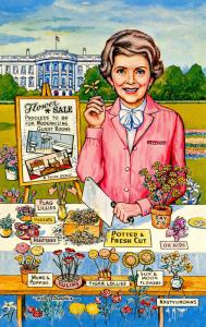 Nancy Reagan - Flower Sale   Artist Signed: Art Strader