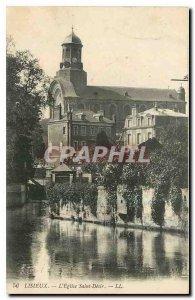 Old postcard Lisieux Church Saint Desir