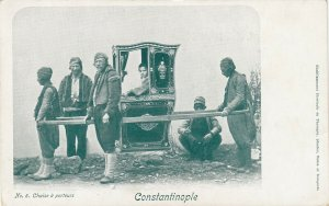 CONSTANTINOPLE, Turkey, 1901-07; Man in carrier