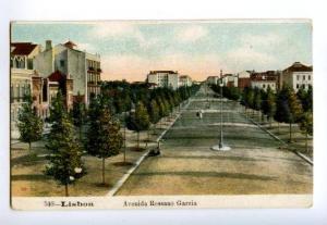 133025 PORTUGAL LISBOA Avenida Ressano Garcia Vintage postcard