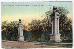 Portland, Me, Portland Street Entrance To Deering Oaks