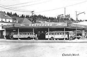 Chehalis WA Cafe Greyhound Bus Restaurant RPPC Postcard