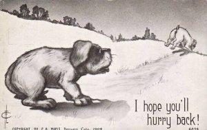 Fred Cavally Dog Series I hope you'll hurry back