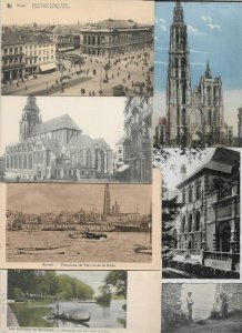Belgium Anvers Bruxelles (Brussels) and more Postard Lot of 35 with RPPC 01.01