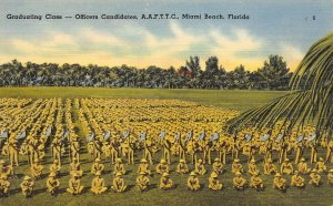 LP28  Miami Beach Florida Postcard Army Air Forces   Military Officer Candidates