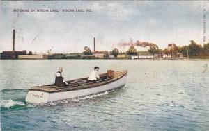 Motoring on Winona Lake, Winona Lake, Indiana, PU-1910