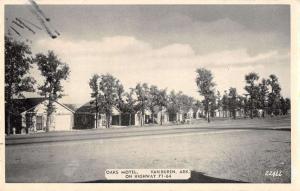 oaks motel  van buren arkansas L4398 antique postcard