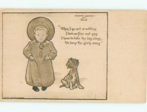Divided-Back DOG SCENE Great Postcard AA9320