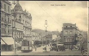 spain, VIGO, Puerta del Sol, TRAM 7 to Picacho (1910s)