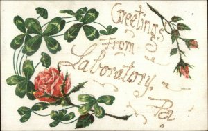 Laboratory PA Washington County Greeting c1910 Postcard