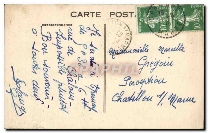 Reims - The Cathedral - Old Postcard