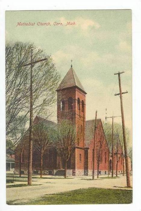 Methodist Church,Caro,MI / Michigan 1900-10s