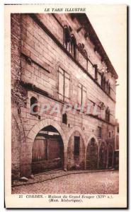 Old Postcard Tarn Illustrious Grand Ecuyer Cordes House