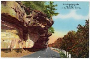 Overhanging Rocks, Highway 71, AR