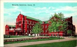 Aurora IL Mercyville Sanitarium Postcard unused (13819)