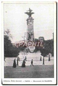 Old Postcard Paris Gambetta Monument