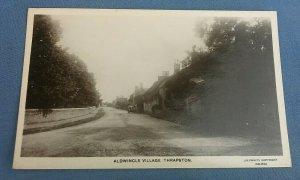 Vintage Real Photo Postcard Aldwincle Village Thrapston Northants H1D