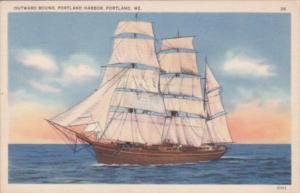 Maine Portland Outward Bound Sailing Vessel Portland Harbor