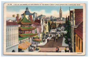 Great Lakes Exposition Cleveland Ohio Postcard Bit of the Orient Linen