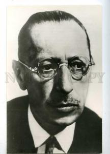 182053 composer Stravinsky in 1930-years old postcard
