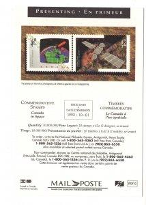 Canada Post Commemorative Stamp 1992, Canada in Space